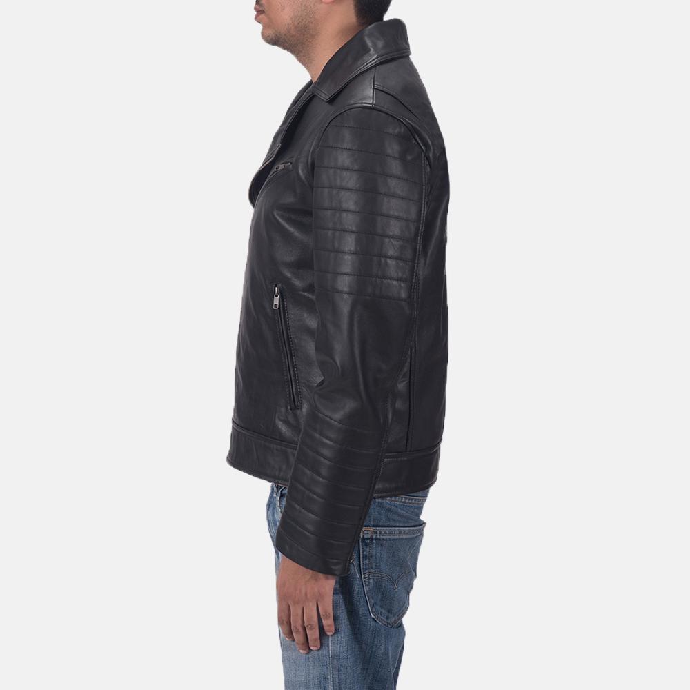 Men's Luther Black Leather Biker Jacket 3