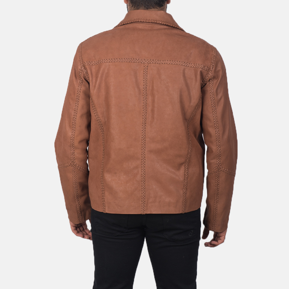 Men's Hayley Vintage Brown Leather Jacket 4