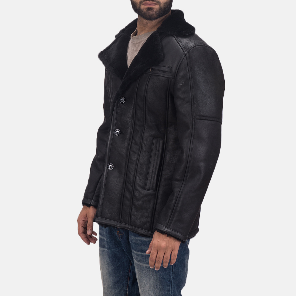 Men's Furcliff Double Face Shearling Leather Coat 3