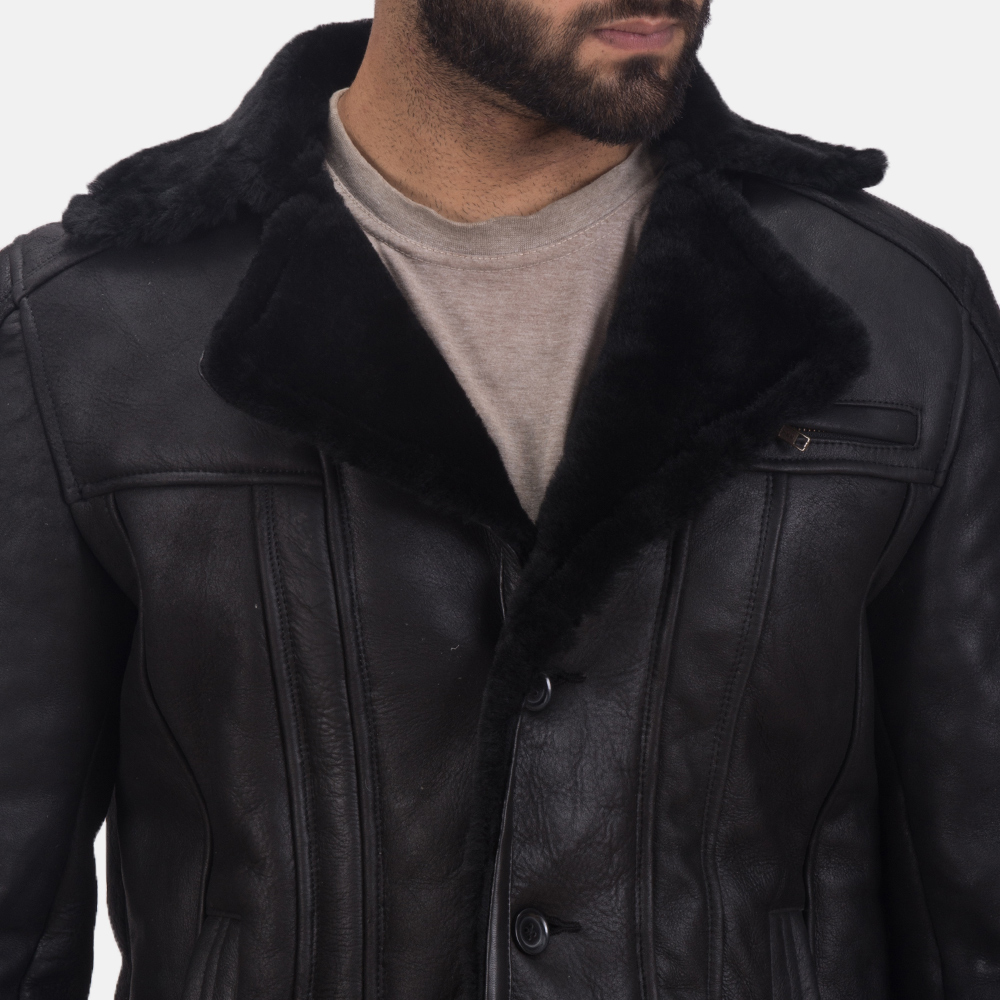 Men's Furcliff Double Face Shearling Leather Coat 6