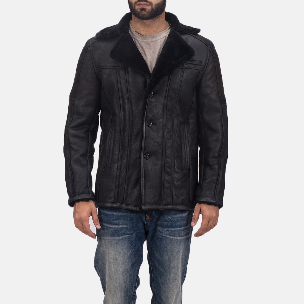 Men's Furcliff Double Face Shearling Leather Coat