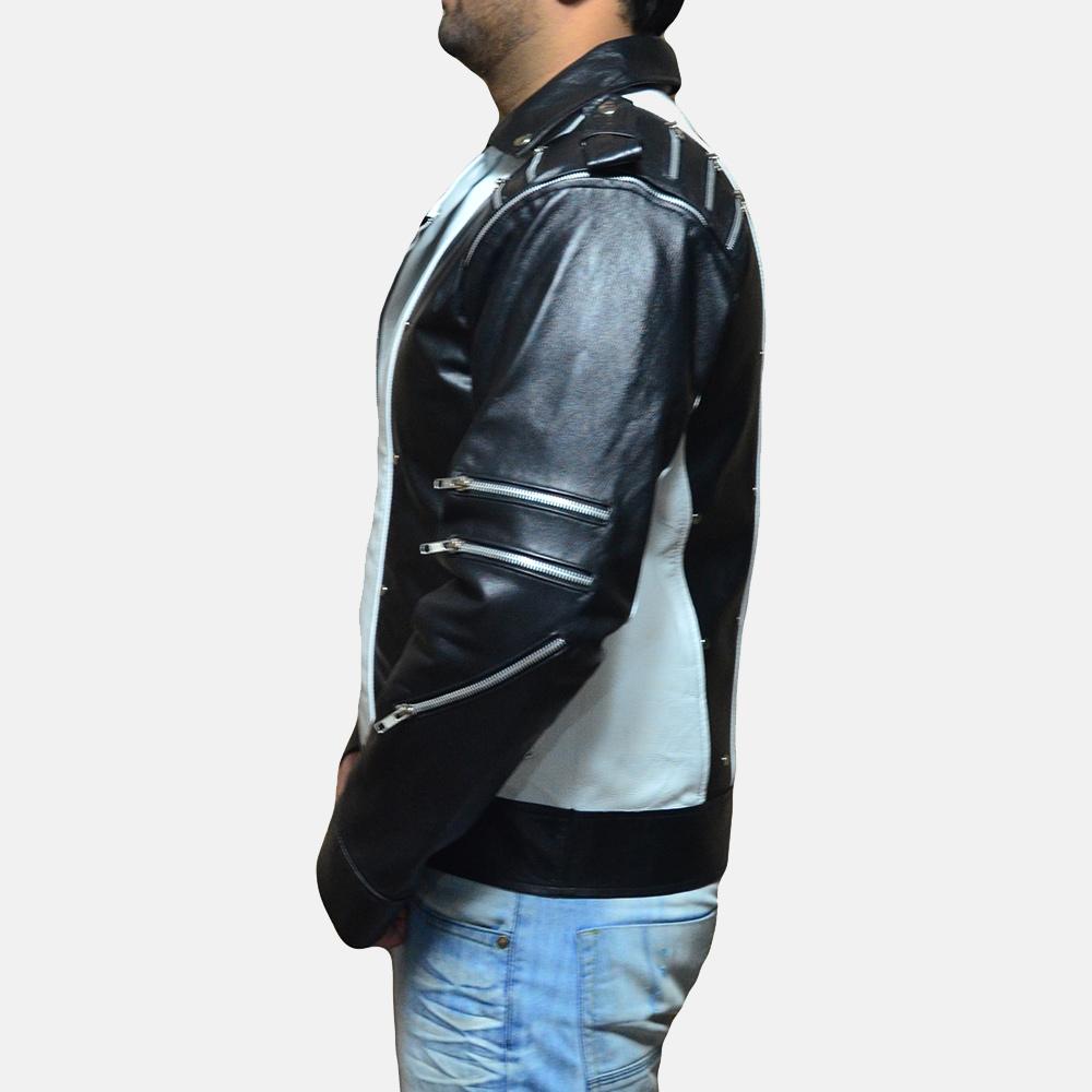Mens Kravitz Leather Biker Jacket 3