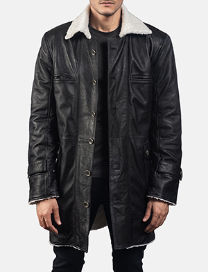 Mens Storm Nite Black Suede Coat