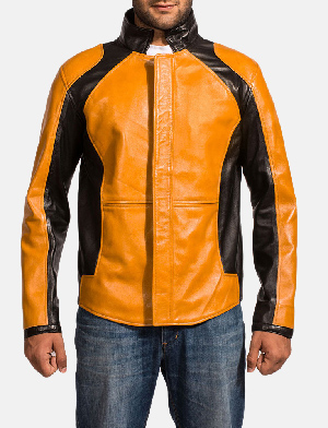 Mens Sunrise Leather Biker Jacket