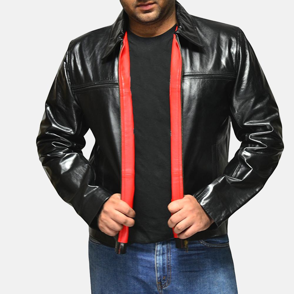Mens Mystical Black Leather Jacket 2