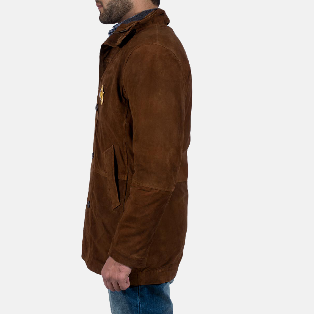 Mens Sheriff Brown Suede Jacket 4