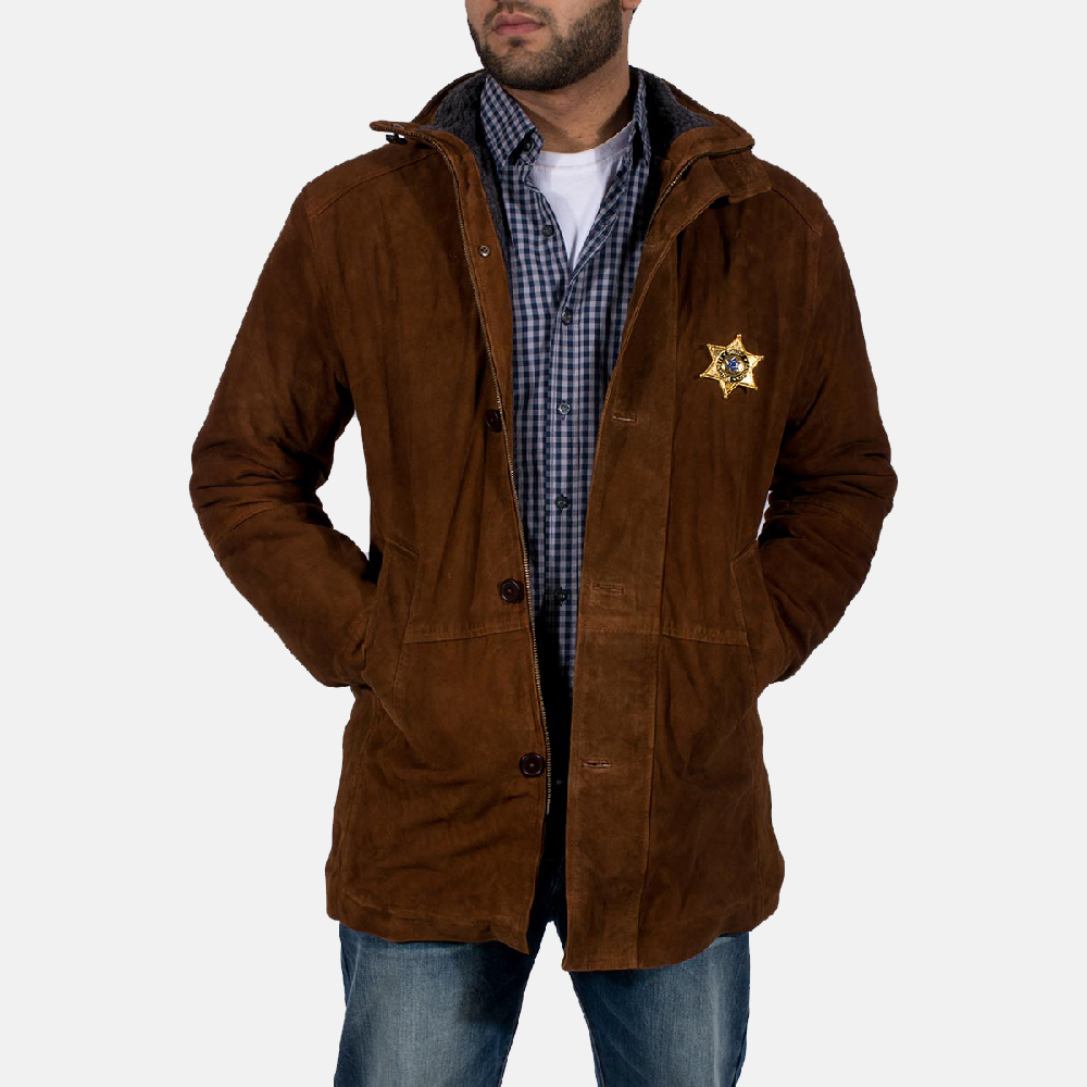 Mens Sheriff Brown Suede Jacket 6