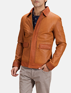 Tan collared basic jacket zoom 2 1491402984155