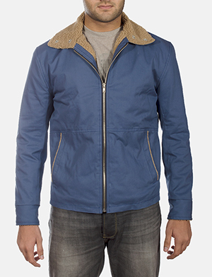 Mens Terry Blue Winter Jacket