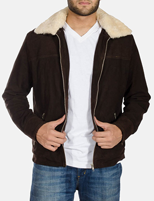 Mens Coffner Brown Shearling Fur Jacket