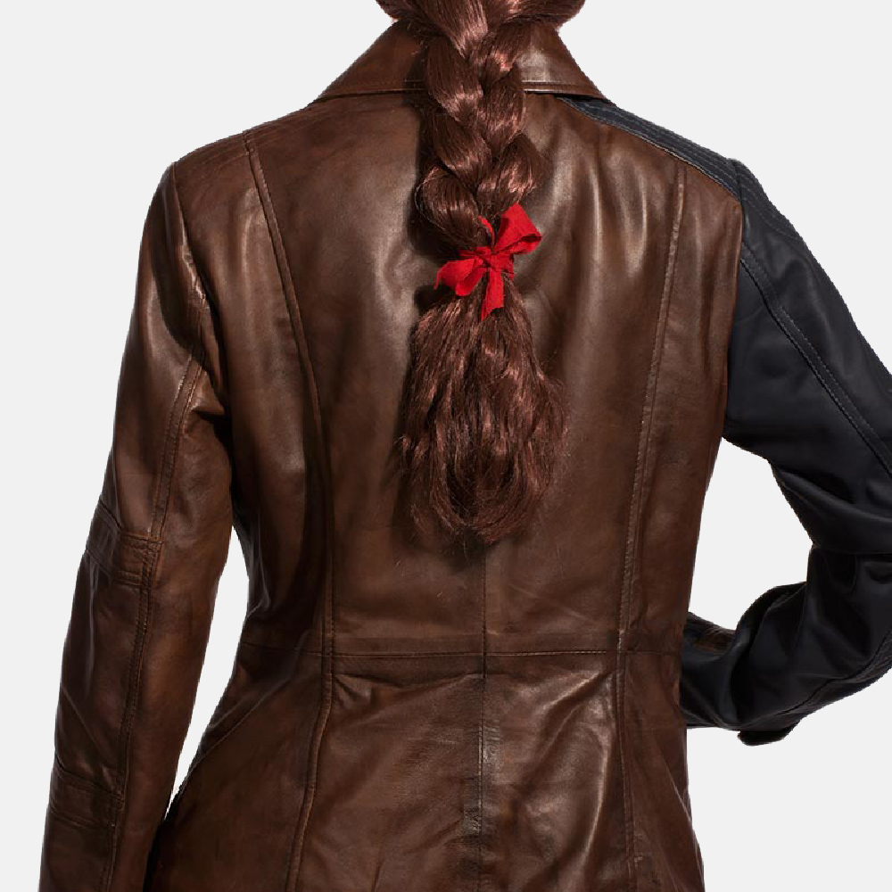 Womens Hydridella Leather Jacket 5