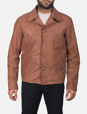 Men's Hayley Vintage Brown Leather Jacket