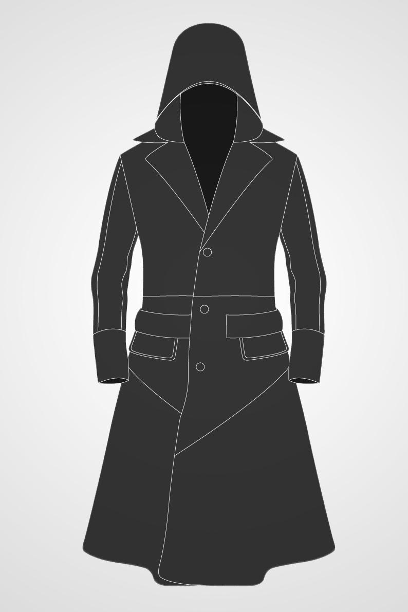 Men's Hooded Trench Coat