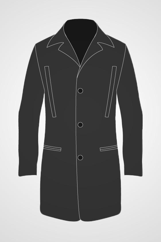 Men's Mid Length Coat