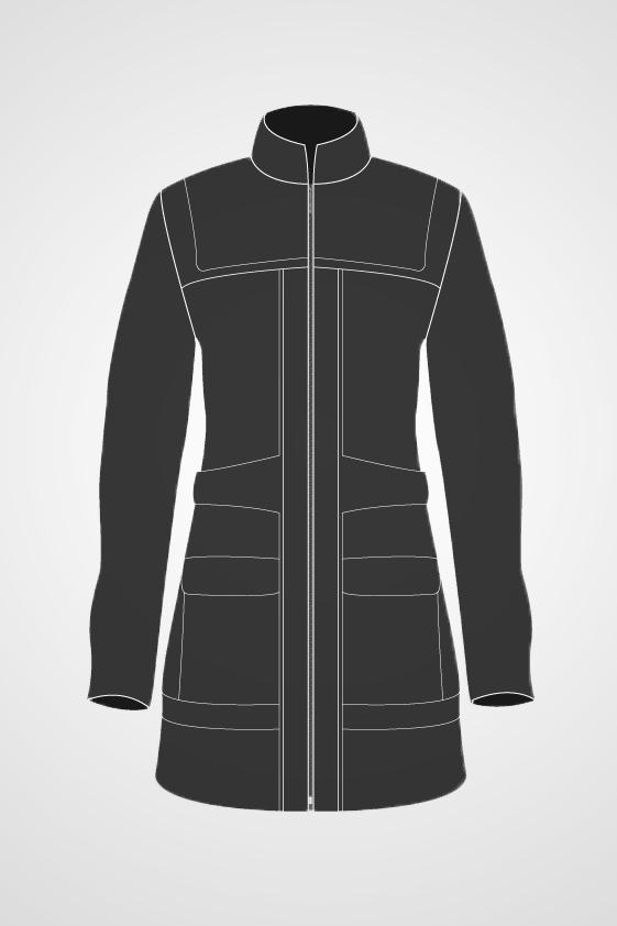 Women's Mid Length Coat