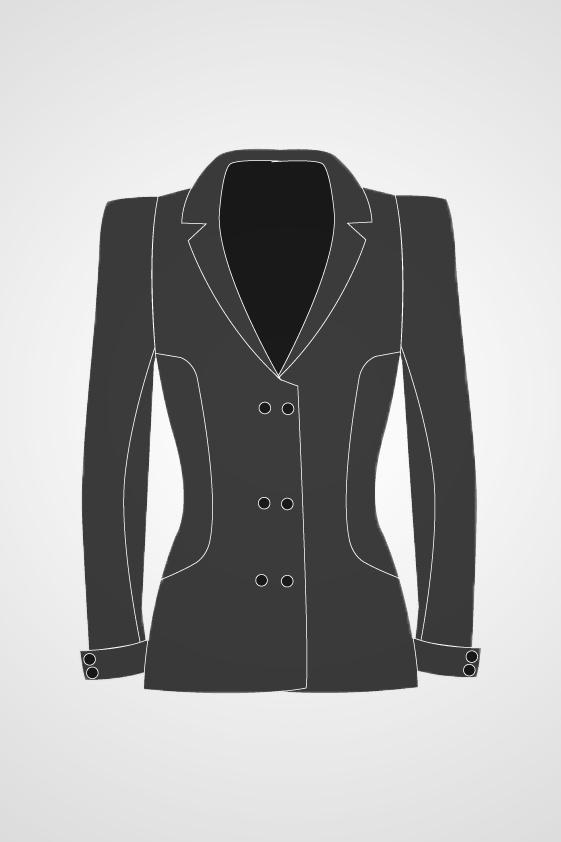 Women's Three Button Blazer