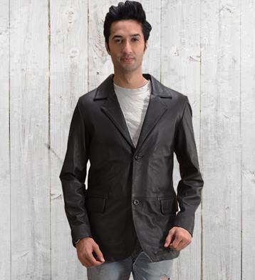 Leather blazers 1499324944194