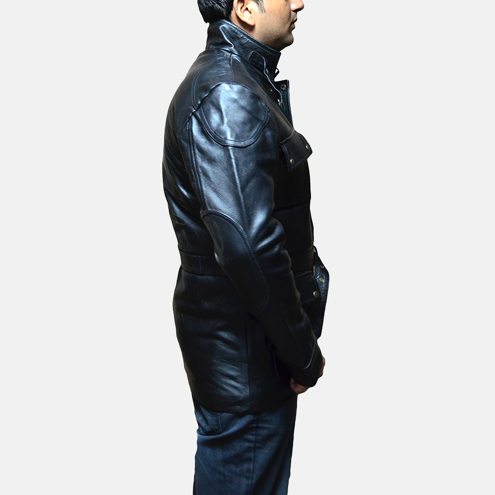 Mens Dolf Black Leather Jacket 3