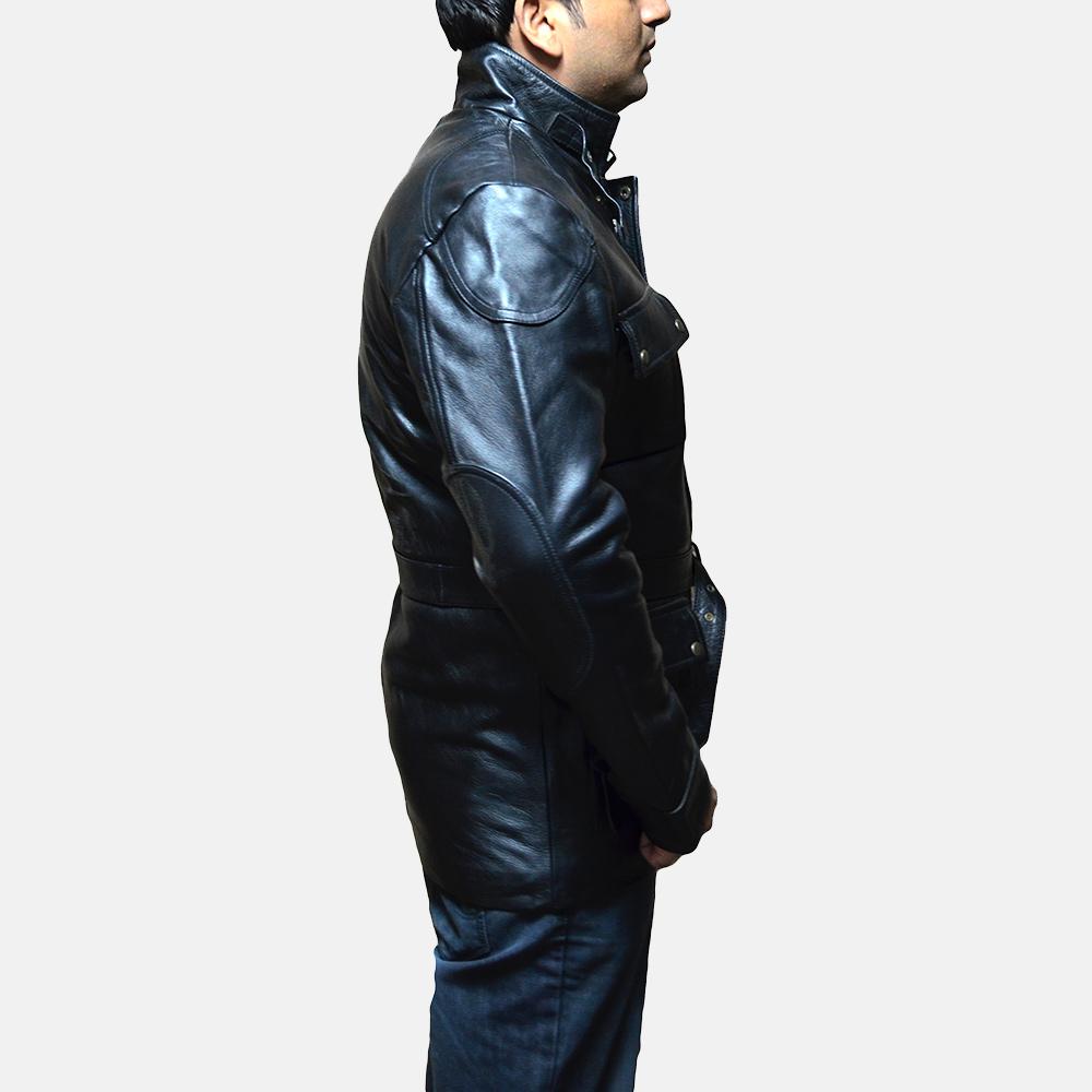 Mens Dolf Black Leather Jacket 3